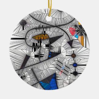 Happy Gryphons Ceramic Ornament