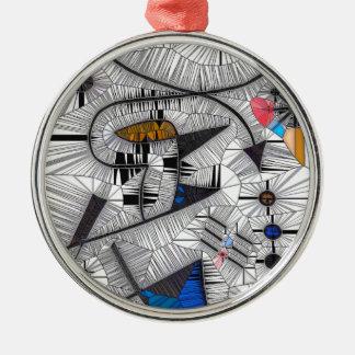Happy Gryphons Metal Ornament