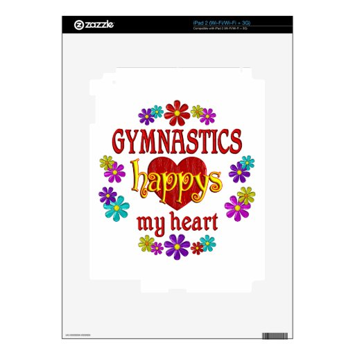 Happy Gymnastics Decal For iPad 2
