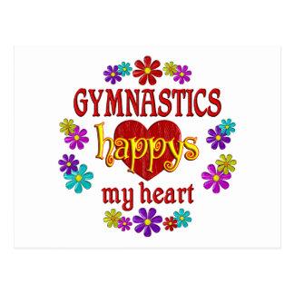 Happy Gymnastics Postcard