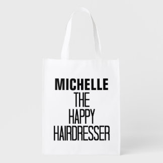 Happy Hairdresser Rhyme Grocery Bags