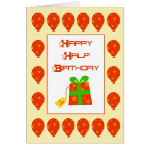 Half Birthday Cards Greeting Photo Cards Zazzle