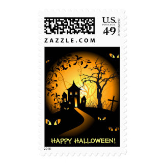 Happy Hallloween - Haunted House and Creepy Eyes Stamps