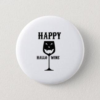 Happy Hallo-Wine Halloween Party Wine Love Gift Button