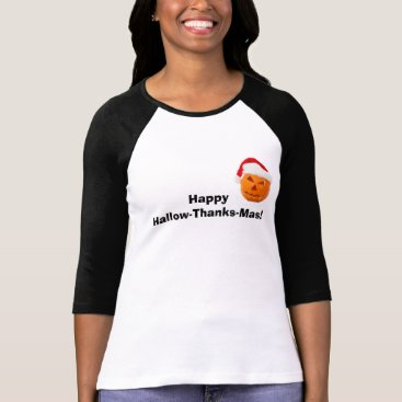 Halloween Themed Happy Hallow-Thanks-Mas Tee