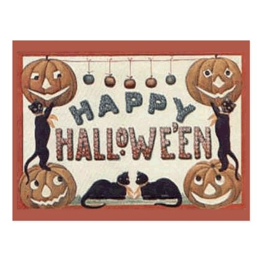 Happy Hallowe'en Postcard