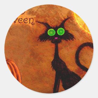 happy_halloween_1024x768.jpg classic round sticker