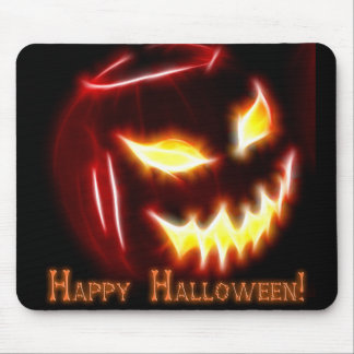Happy Halloween 1 with text Mousepads