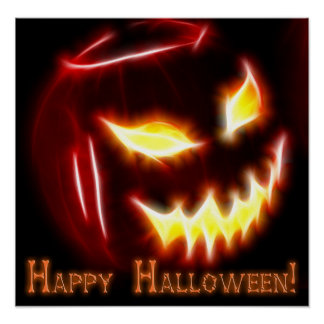Happy Halloween 1 with text Poster