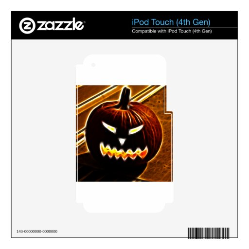 Happy Halloween 2.1 no text Decal For iPod Touch 4G