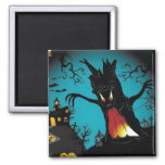 Happy Halloween 2 Inch Square Magnet