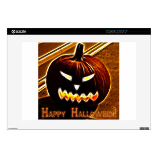 "Happy Halloween 2 with text 15"" Laptop Decals"