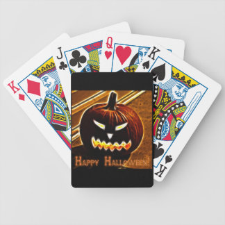 Happy Halloween 2 with text Bicycle Playing Cards