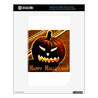 Happy Halloween 2 with text Decal For NOOK Color