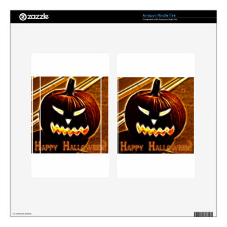 Happy Halloween 2 with text Kindle Fire Skin