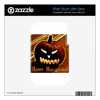 Happy Halloween 2 with text Skins For iPod Touch 4G