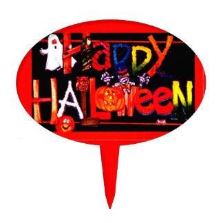 Happy Halloween 3 Cake Topper