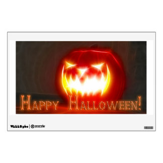 Happy Halloween 3 with text Wall Decal