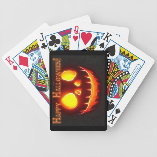 Happy Halloween 4 with text Bicycle Playing Cards