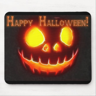 Happy Halloween 4 with text Mouse Pad