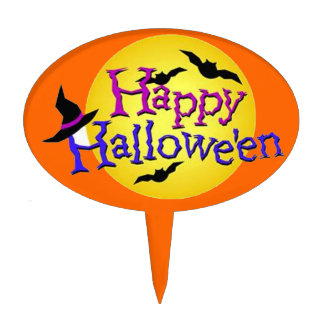 Happy Halloween 6 Cake Topper