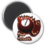 Happy Halloween 7 Ball Devil Magnets
