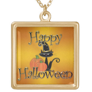 Happy Halloween 7 Gold Plated Necklace