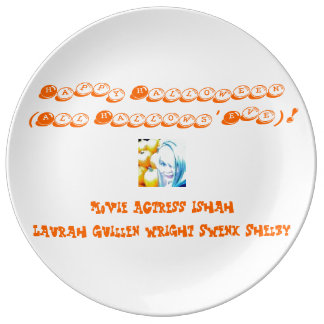 Happy Halloween (All Hallows' Eve)! Porcelain Plates