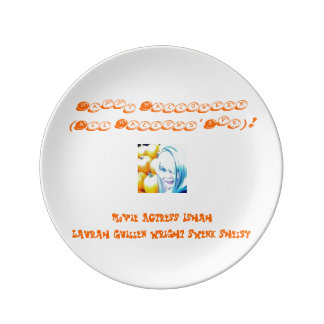 Happy Halloween (All Hallows' Eve)! Porcelain Plate