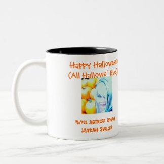 Happy Halloween (All Hallows' Eve)! Two-Tone Coffee Mug