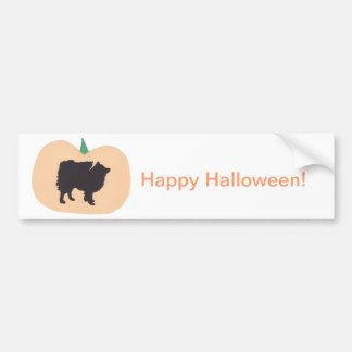 Happy Halloween American Eskimo Bumper Sticker
