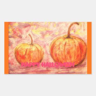 happy halloween art sticker