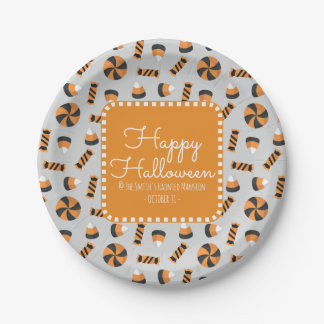 Happy Halloween Assorted Candies Paper Plate