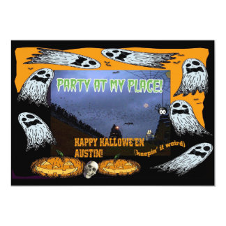 Happy Halloween Austin TX.-Party Invite! Card