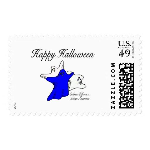 Happy Halloween Autism Awareness Stamp