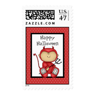 Happy Halloween Baby Devil Postage