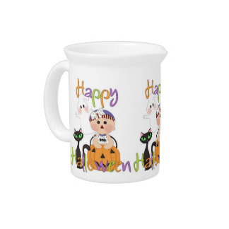 Happy Halloween Baby Friends Beverage Pitcher