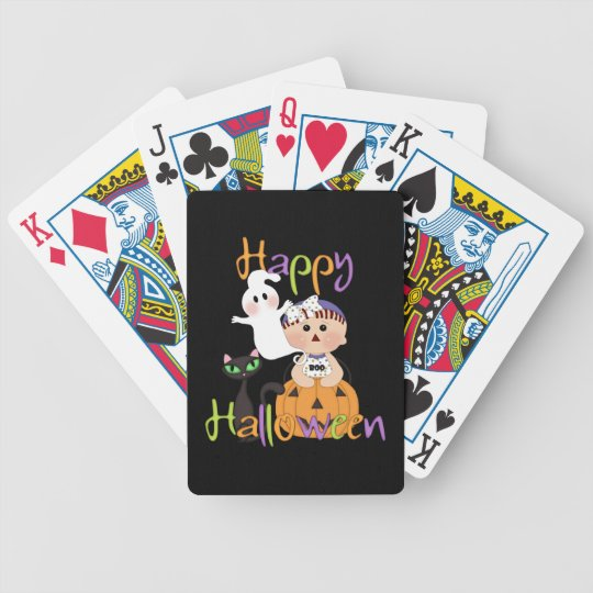 Happy Halloween Baby Friends Bicycle Playing Cards