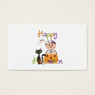 Happy Halloween Baby Friends Business Card