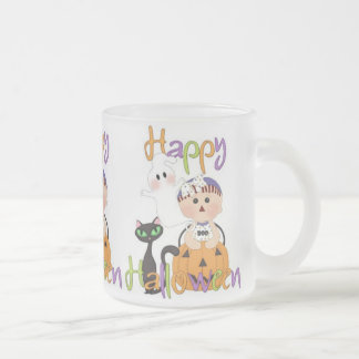 Happy Halloween Baby Friends Frosted Glass Coffee Mug