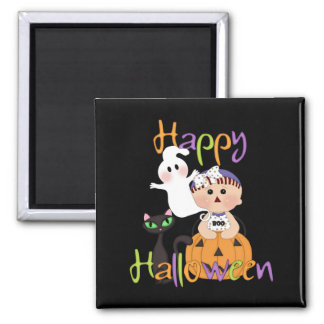 Happy Halloween Baby Friends 2 Inch Square Magnet