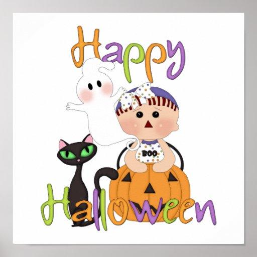 Happy Halloween Baby Friends Poster