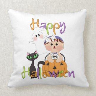 Happy Halloween Baby Friends Throw Pillow