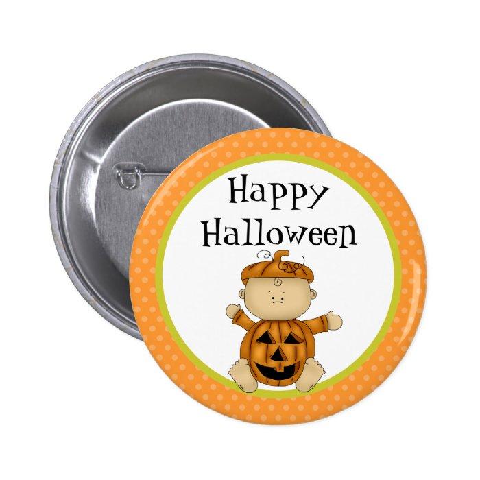 Happy Halloween Baby Pumpkin Button