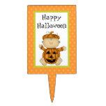 Happy Halloween Baby Pumpkin Cake Topper