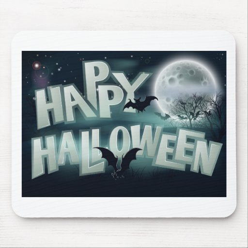 Happy Halloween Background Mouse Pad