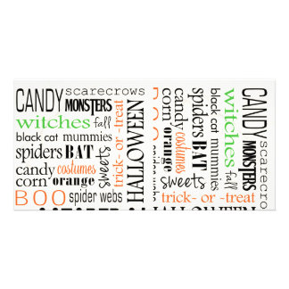 Happy Halloween Background Photo Card