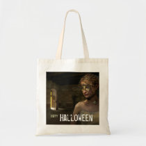 mood, chick, scary, mystic, halloween, scarry, happy halloween, eerie, trick or treat, haloween, dark, weird, fantasy, Bag with custom graphic design