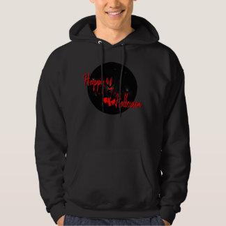 happy halloween basic hoodied sweatshirt