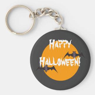 Happy Halloween Basic Round Button Keychain